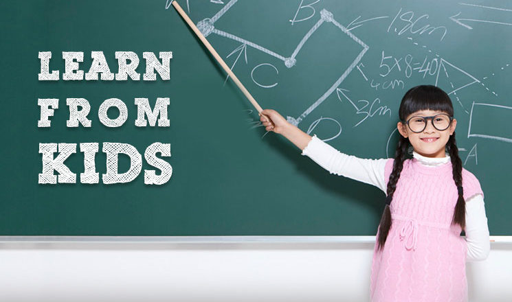 Its the time to learn from yourchildren